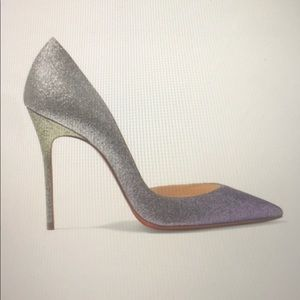 Glittered leather Louboutin Pumps